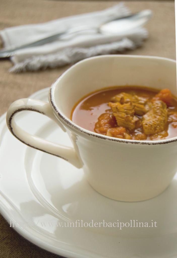 Zuppa zucca e castagne