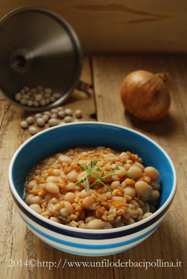 Zuppa farro e fagioli Controne